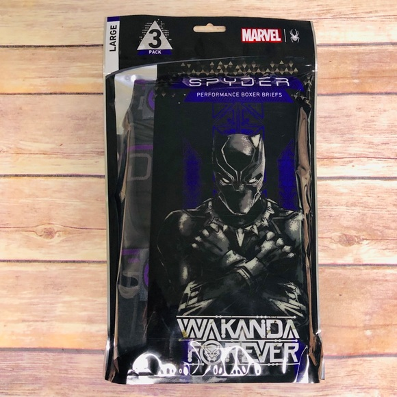 283839184 Spyder Underwear & Socks | Marvel 3 Pack Boxer Briefs Black Panther ...